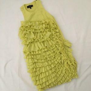 📚Robert Rodriguez Citron Ruffle Tank Dress